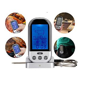 Wireless BBQ Digital Cooking Thermometer with Probe and Timer