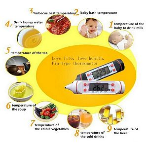 Pen Thermometer Digital Thermometer for Cooking Kitchen Food Meat BBQ Thermometer