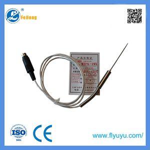 Fiberglass wire pt100 platinum temperature sensors