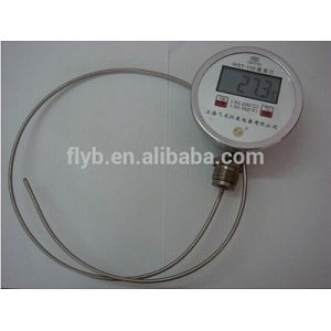 Digital dial face bimetal thermometer