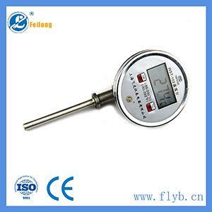 Hot water temperature gauge