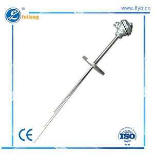 Fixed flange multipoint sheathed thermocouple