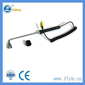 Handle end-face thermocouple with mushRoom head