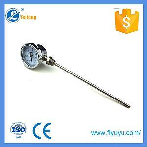 Bimetal temperature dial gauge