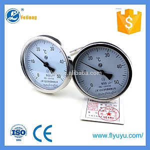industrial stainless steel bimetallic thermometer