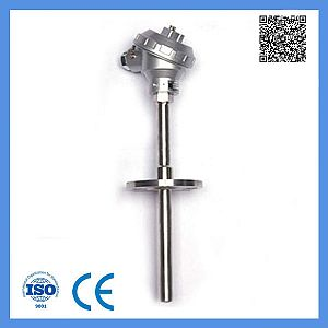 Industrial Usage K Type Assembly Thermocouple with Fixed Flange 0-1000c