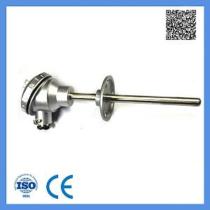 Assembly Rtd -100-420c Temperature Sensor with Movable Flange Resistance