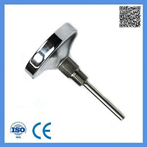 Dial 60mm Industrial Stainless Steel Long Probe Axial Bimetal Thermometer 0-300c