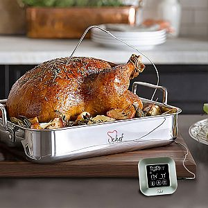 Instant LCD Touchscreen Digital Food Meat Probe Thermometer for Cooking Kitchen BBQ Oven Thermometer