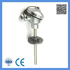Industrial Usage E Type Assembly Thermocouple with Movable Flange 0-600c