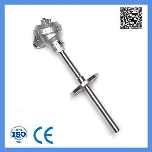 Industrial Usage E Type Assembly Thermocouple with Fixed Flange 0-600c