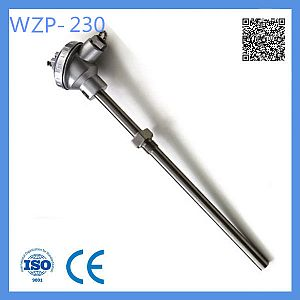 Industrial Usage Rtd and Probe PT100 Type Temperature Sensor with Fixed Bolt